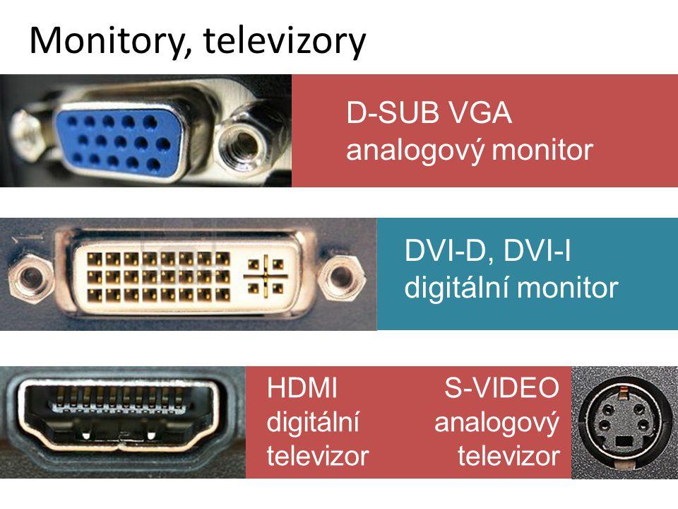 Monitory, televizory D-SUB VGA analogový monitor DVI-D, DVI-I