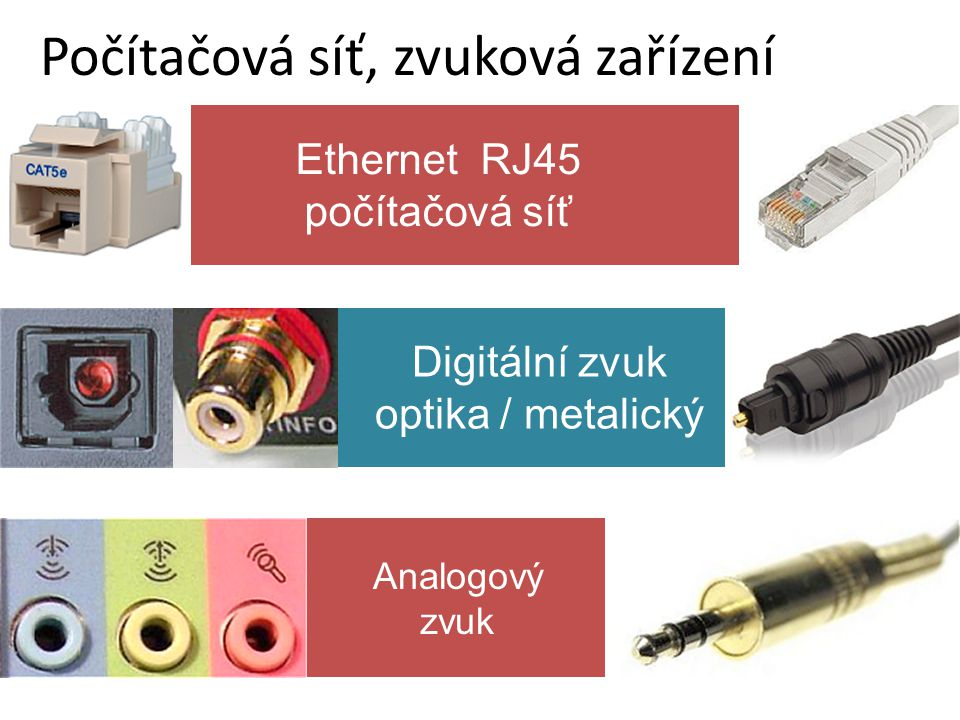 Počítačová síť, zvuková zařízení