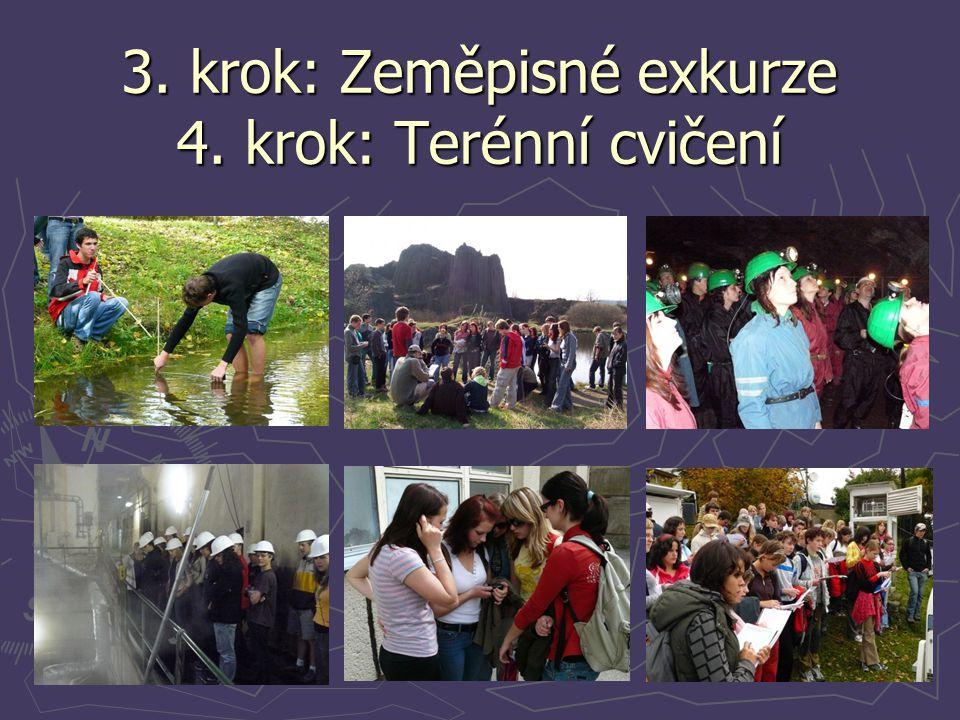 3. krok: Zeměpisné exkurze 4. krok: Terénní cvičení