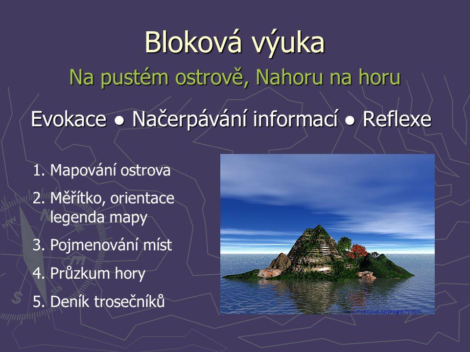 Bloková výuka Na pustém ostrově, Nahoru na horu