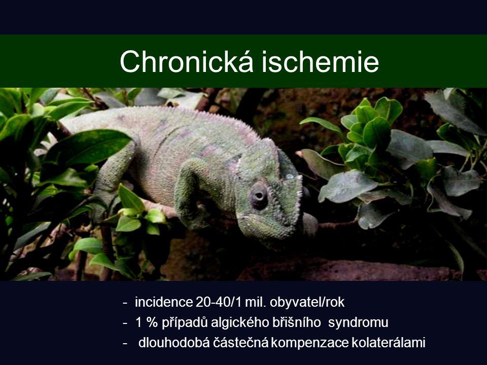 Chronická ischemie incidence 20-40/1 mil. obyvatel/rok