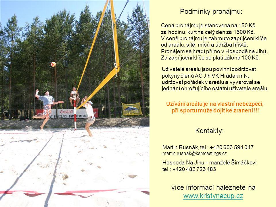 více informací naleznete na www.kristynacup.cz