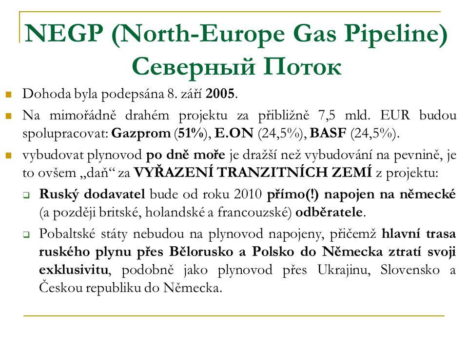 NEGP (North-Europe Gas Pipeline) Северный Поток