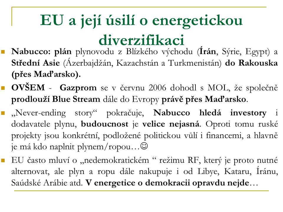 EU a její úsilí o energetickou diverzifikaci