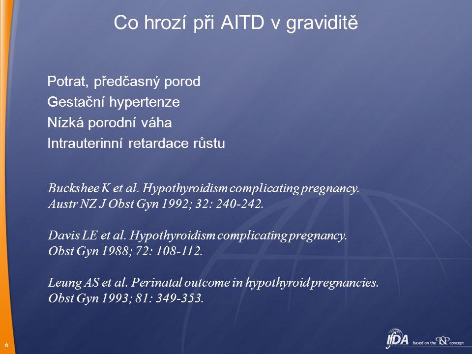Co hrozí při AITD v graviditě