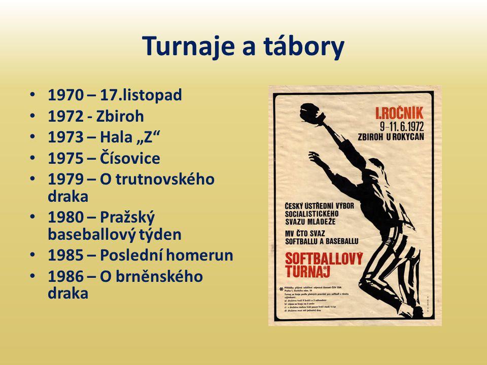 "Turnaje a tábory 1970 – 17.listopad 1972 - Zbiroh 1973 – Hala ""Z"