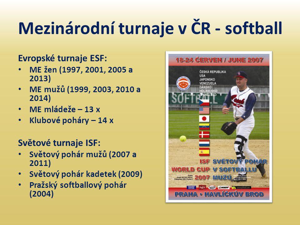 Mezinárodní turnaje v ČR - softball