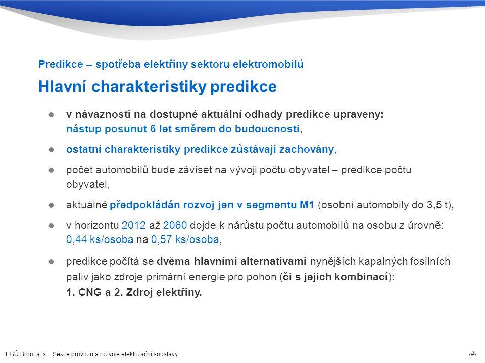 Hlavní charakteristiky predikce