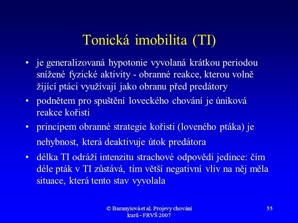 Tonická imobilita (TI)
