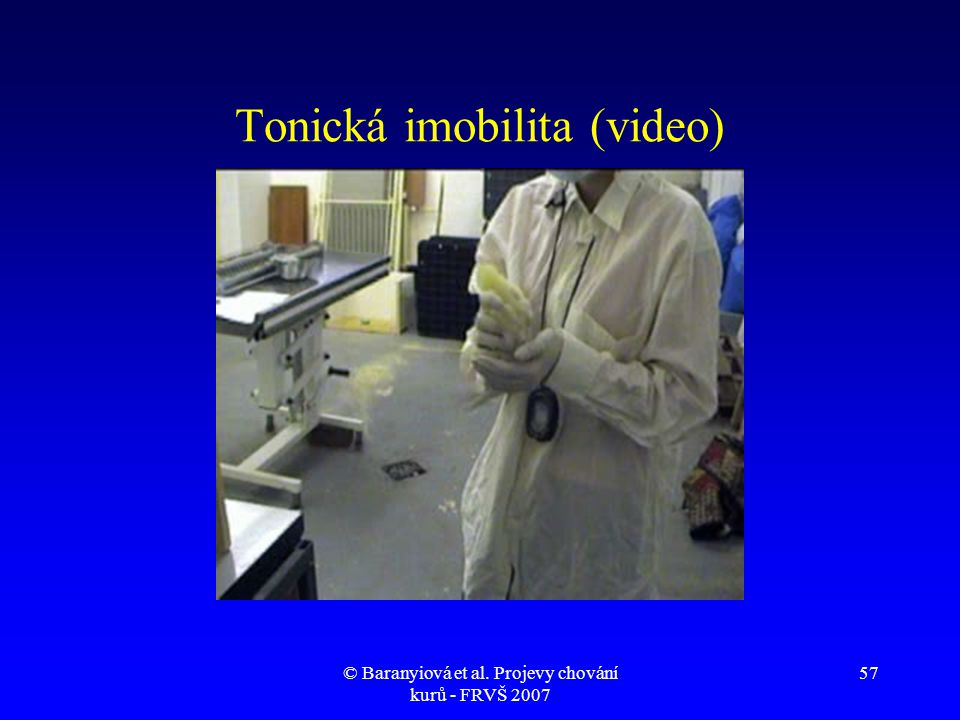 Tonická imobilita (video)