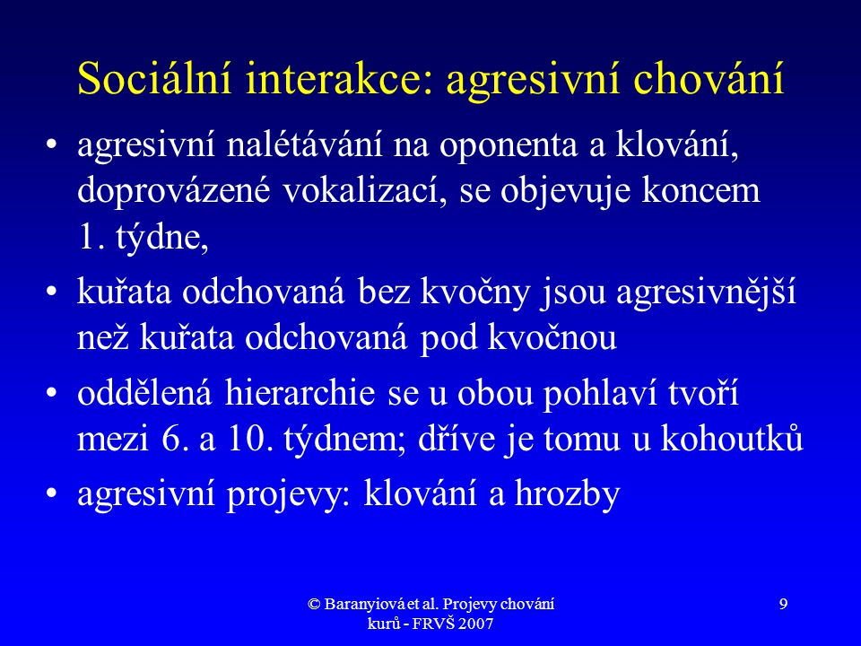 Sociální interakce: agresivní chování
