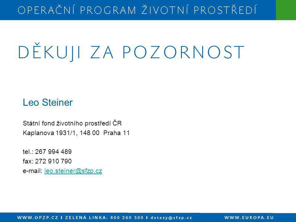Leo Steiner Státní fond životního prostředí ČR