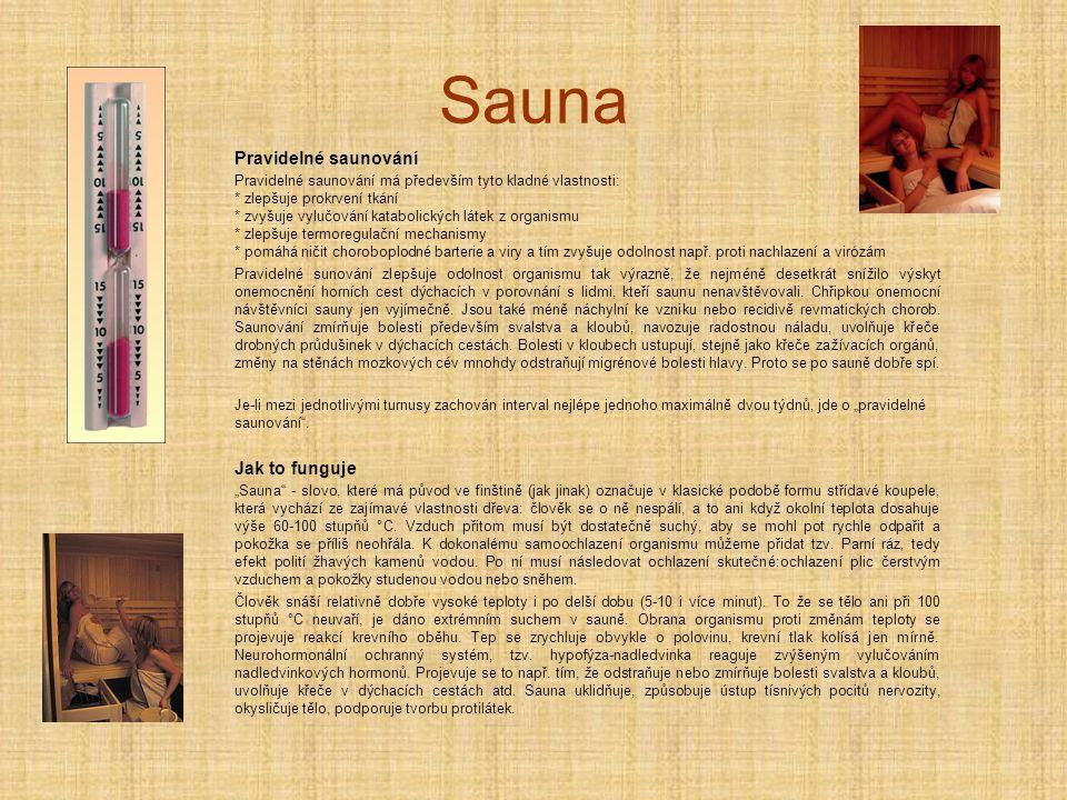 Sauna Pravidelné saunování Jak to funguje