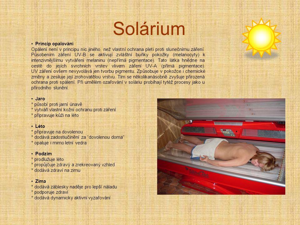 Solárium Princip opalování