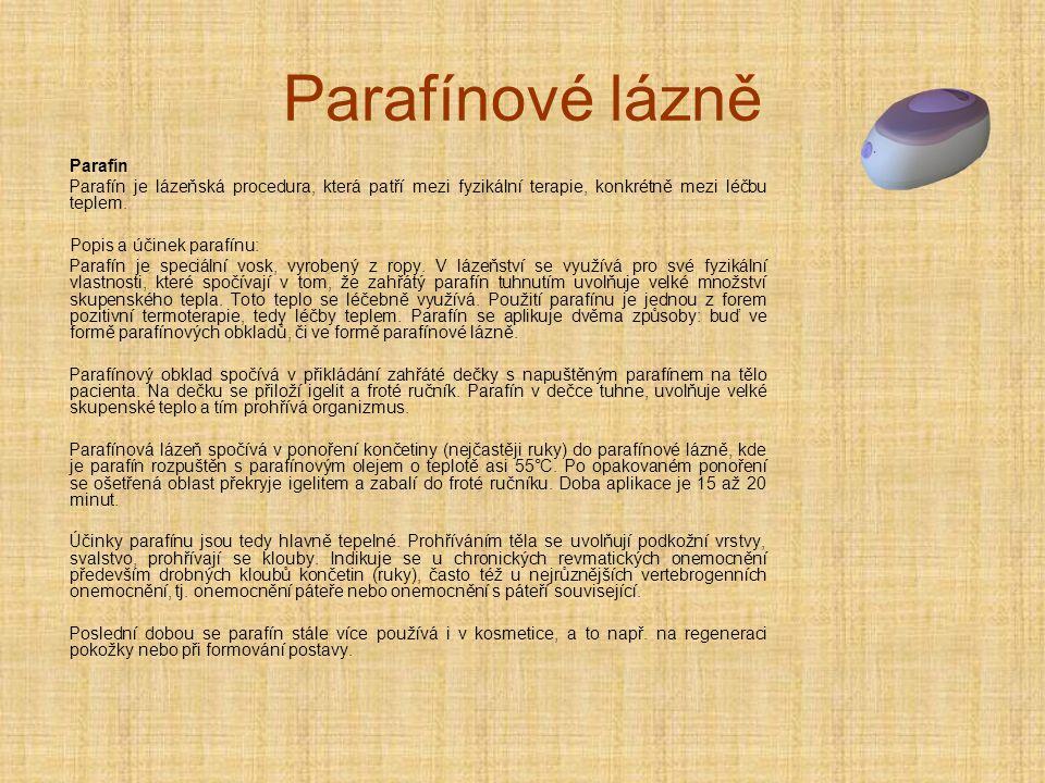Parafínové lázně Parafín