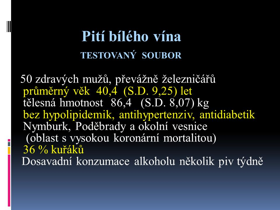 Pití bílého vína TESTOVANÝ SOUBOR