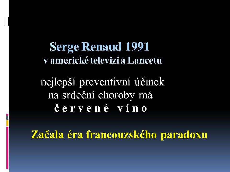 Serge Renaud 1991 v americké televizi a Lancetu