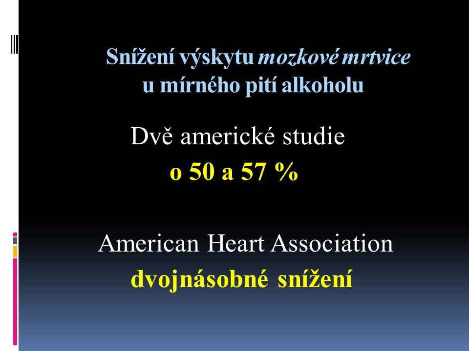 Snížení výskytu mozkové mrtvice u mírného pití alkoholu