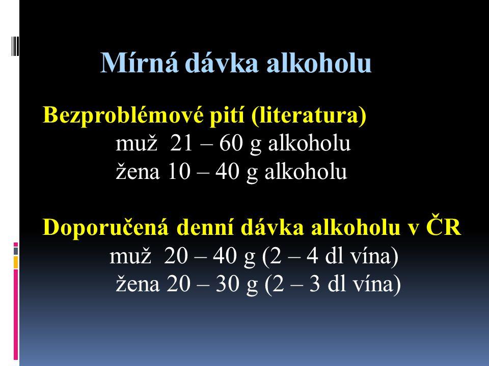 Mírná dávka alkoholu