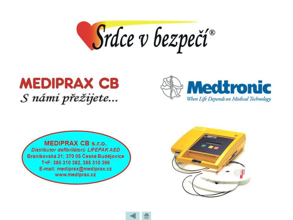 MEDIPRAX CB s.r.o. Distributor defibrilátorů LIFEPAK AED