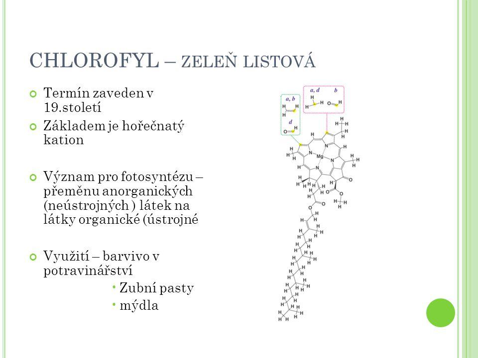 CHLOROFYL – zeleň listová