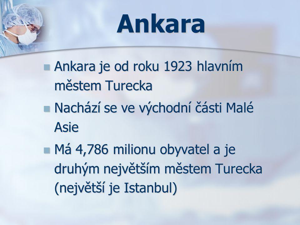 Ankara Ankara je od roku 1923 hlavním městem Turecka