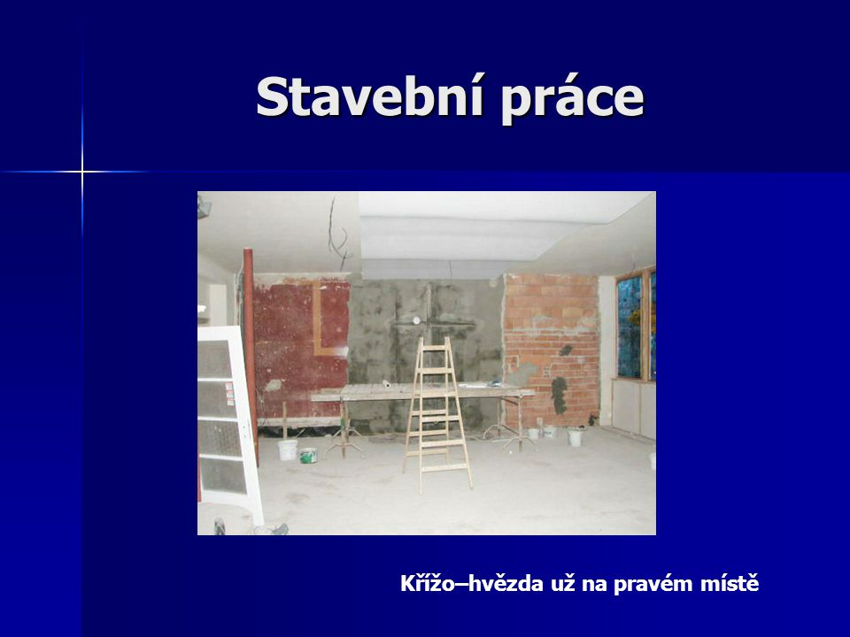 Stavební práce Křížo–hvězda už na pravém místě