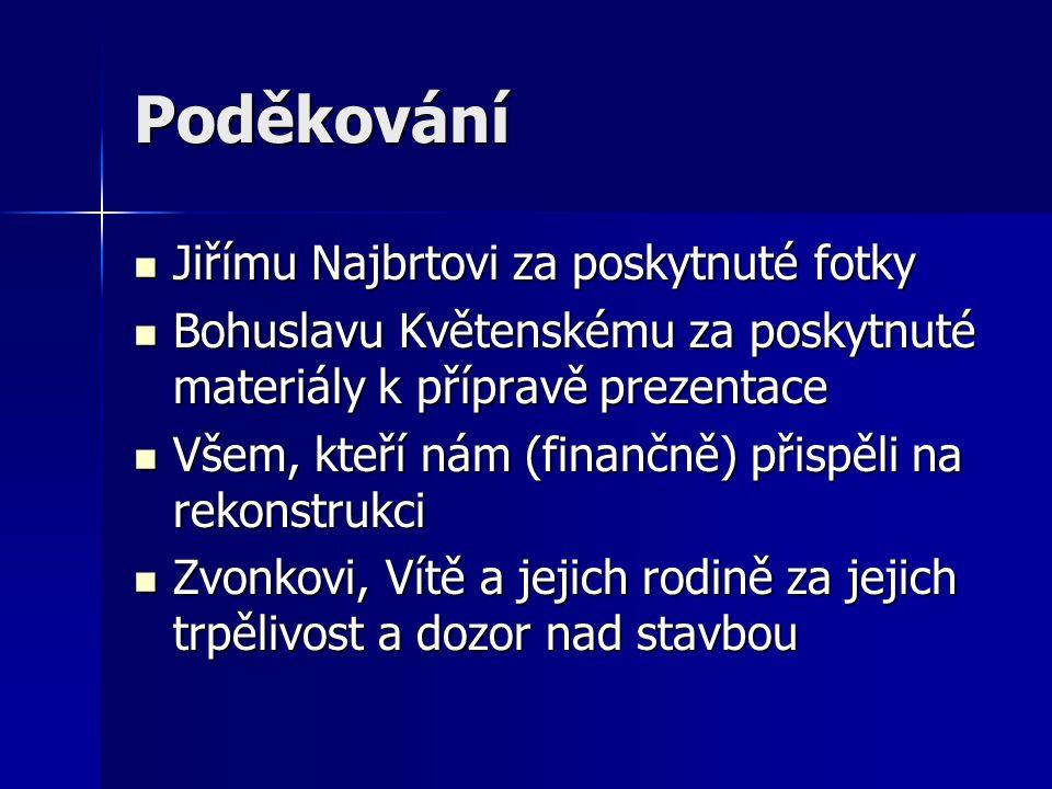 Poděkování Jiřímu Najbrtovi za poskytnuté fotky
