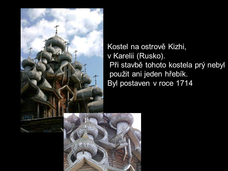 Kostel na ostrově Kizhi,