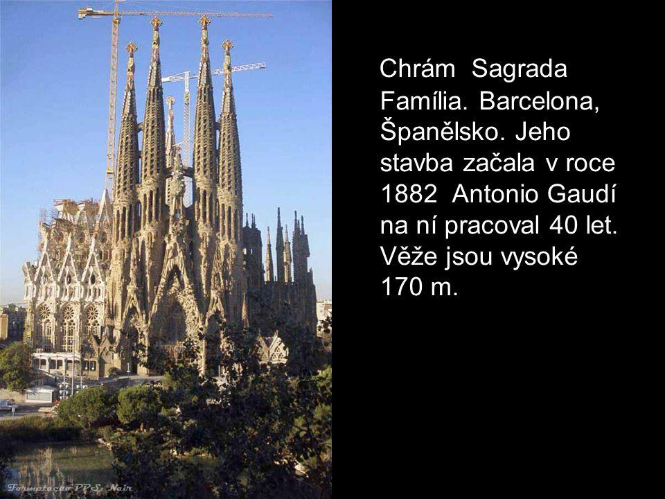 Chrám Sagrada Família. Barcelona, Španělsko
