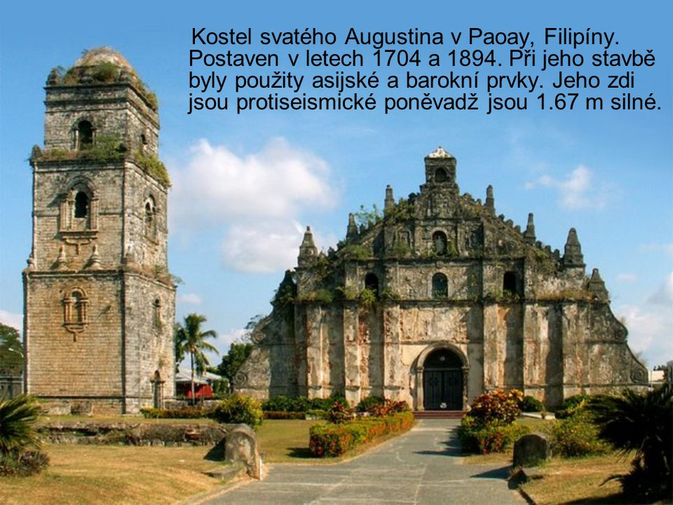 Kostel svatého Augustina v Paoay, Filipíny