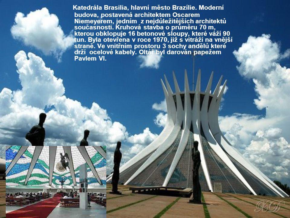 Katedrála Brasilia, hlavní město Brazílie
