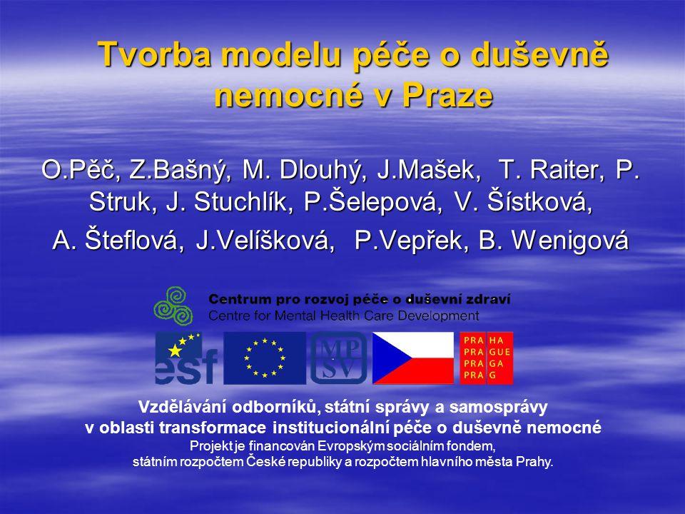 Tvorba modelu péče o duševně nemocné v Praze