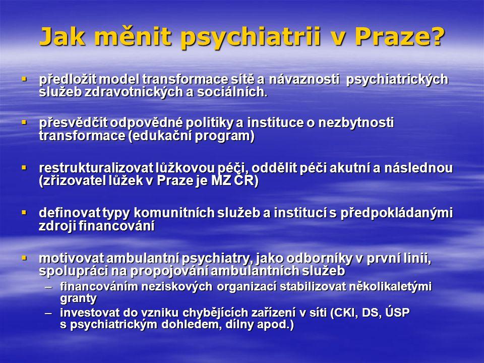 Jak měnit psychiatrii v Praze
