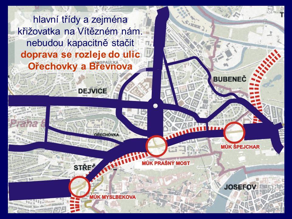doprava se rozleje do ulic Ořechovky a Břevnova