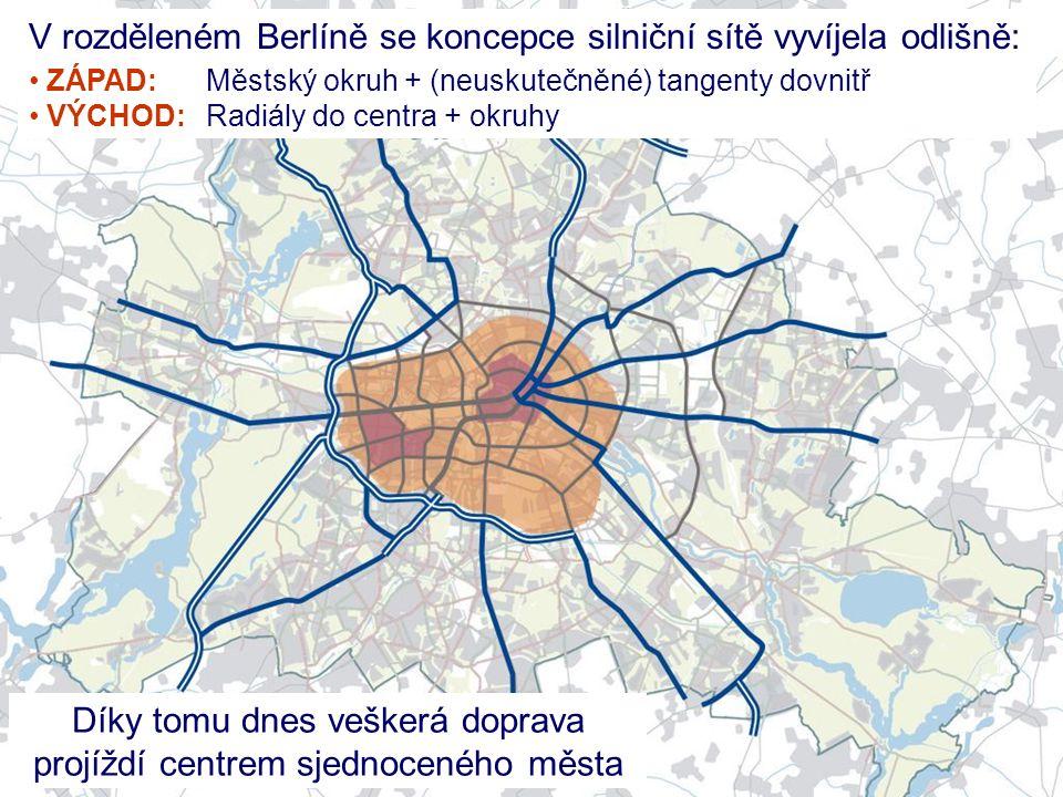 Díky tomu dnes veškerá doprava projíždí centrem sjednoceného města