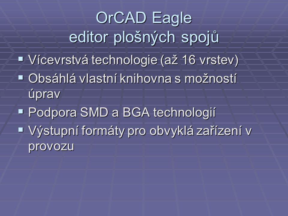 OrCAD Eagle editor plošných spojů