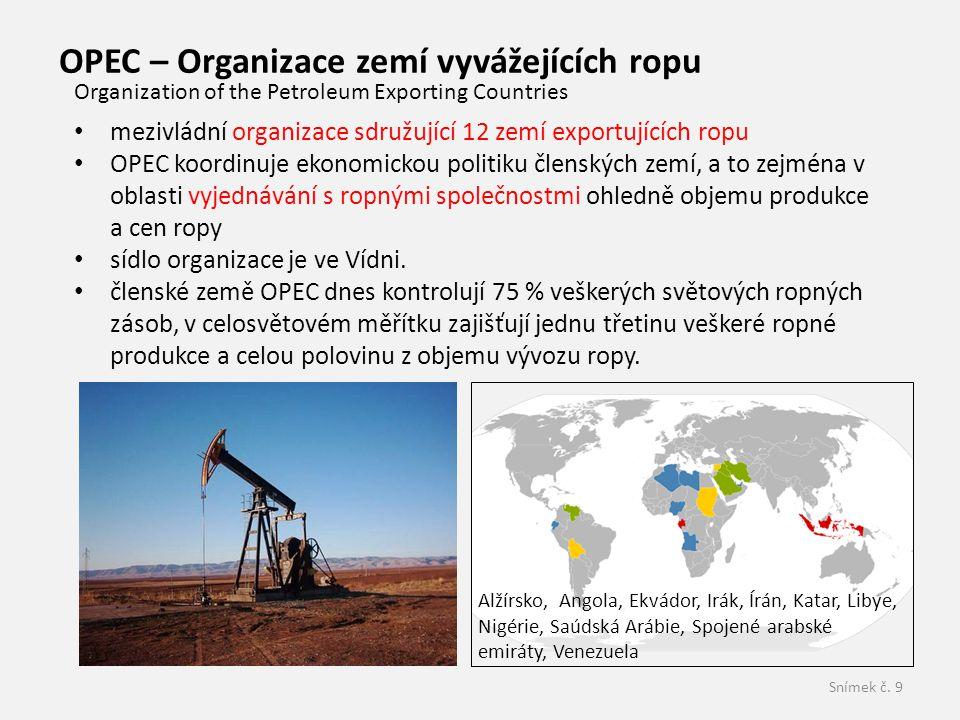 OPEC – Organizace zemí vyvážejících ropu