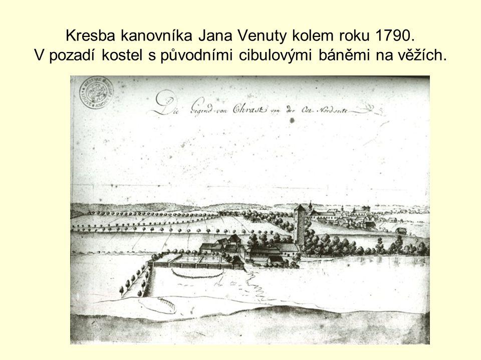 Kresba kanovníka Jana Venuty kolem roku 1790