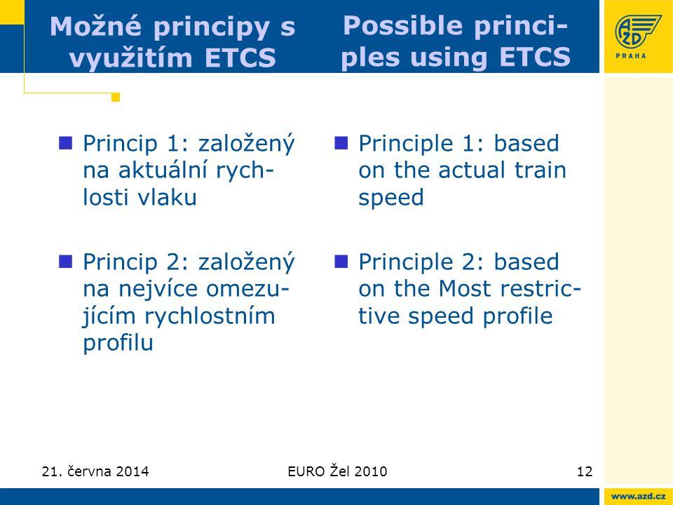 Možné principy s využitím ETCS