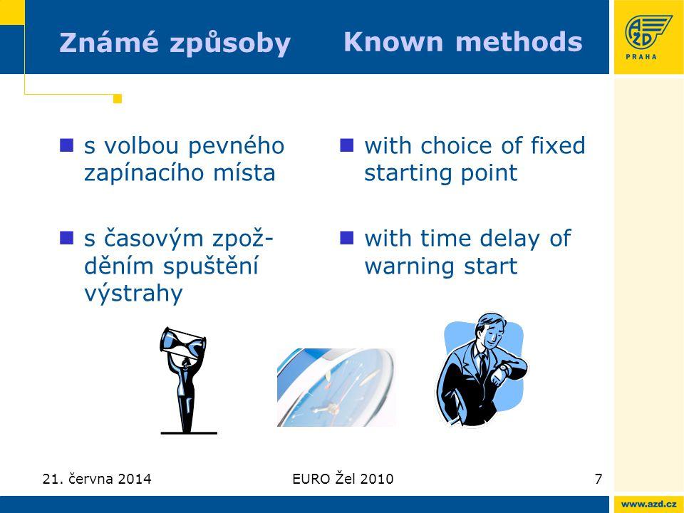 Známé způsoby Known methods