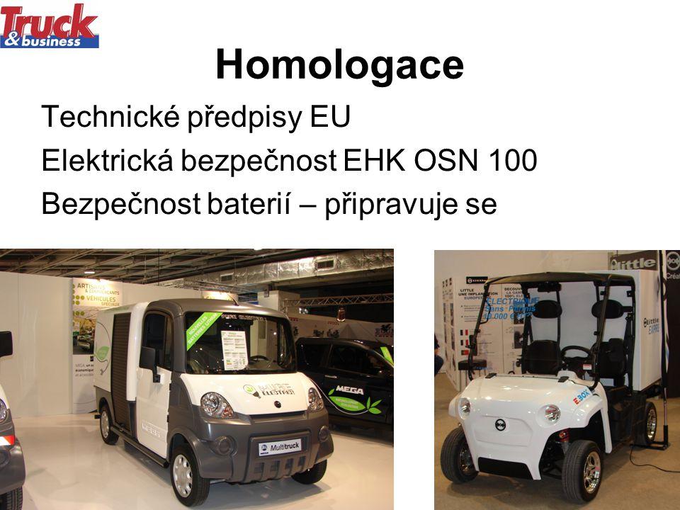 Homologace Technické předpisy EU Elektrická bezpečnost EHK OSN 100