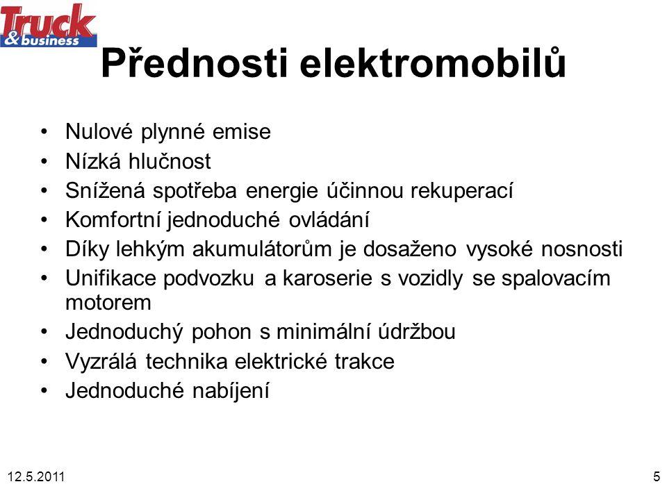 Přednosti elektromobilů