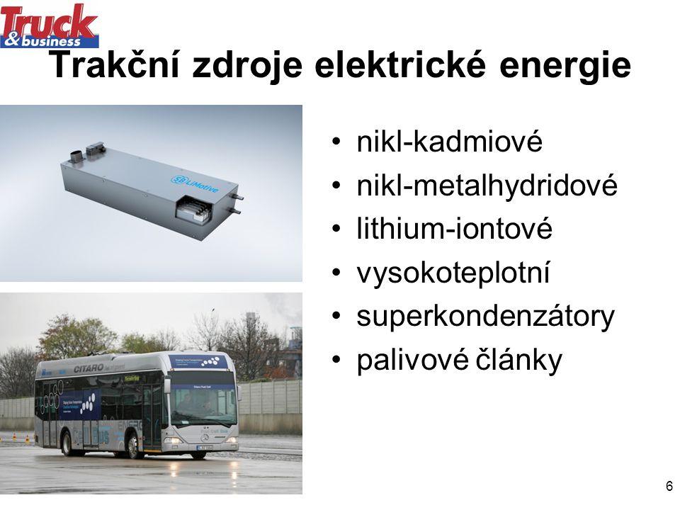 Trakční zdroje elektrické energie