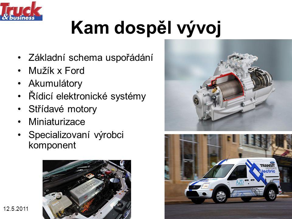 Kam dospěl vývoj Základní schema uspořádání Mužík x Ford Akumulátory