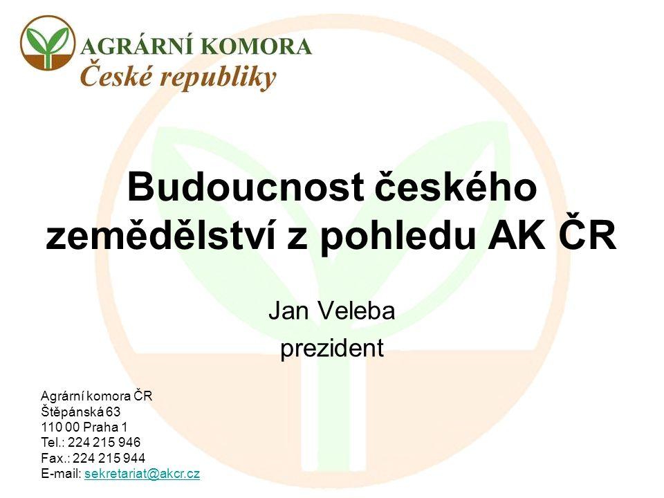 Budoucnost českého zemědělství z pohledu AK ČR
