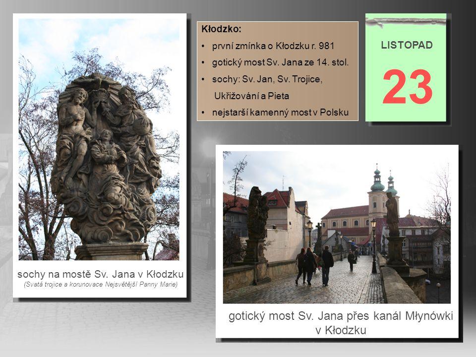 23 gotický most Sv. Jana přes kanál Młynówki v Kłodzku LISTOPAD