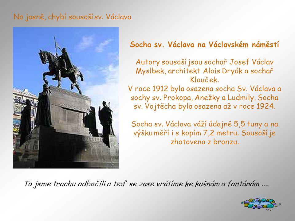 Socha sv. Václava na Václavském náměstí