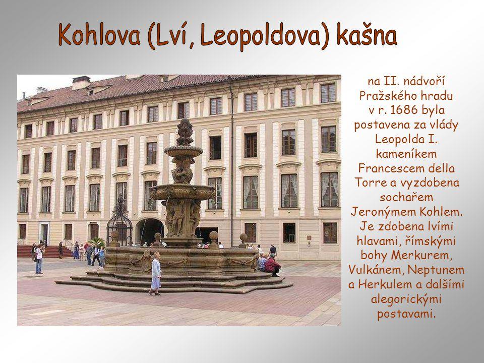 Kohlova (Lví, Leopoldova) kašna
