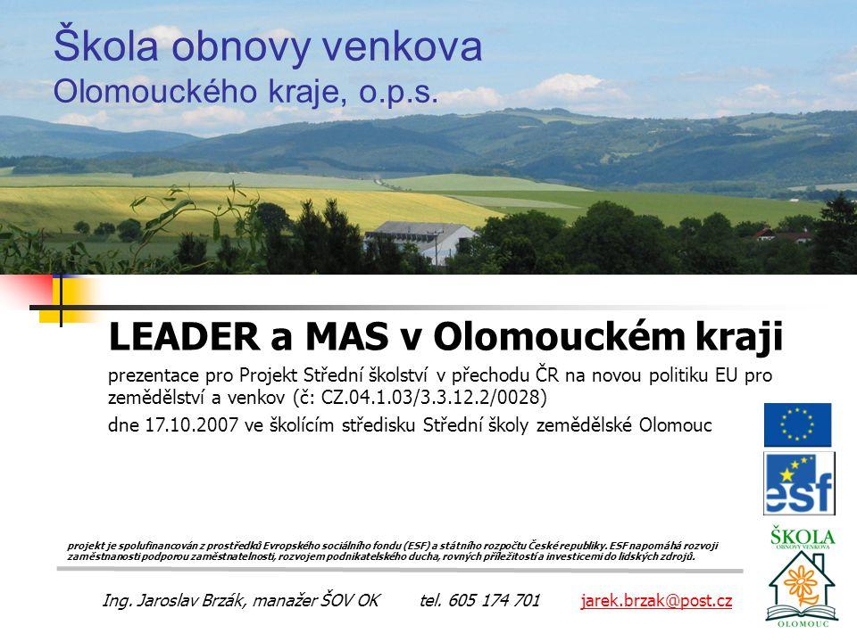 Škola obnovy venkova Olomouckého kraje, o.p.s.